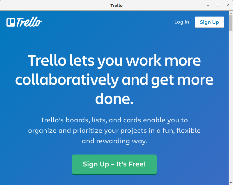 How to Install Trello in Gentoo Linux -