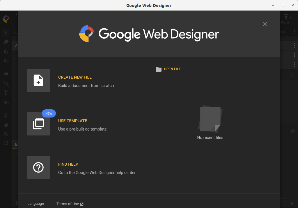 How to Install Google Web Designer in openSUSE 42 Leap - UI