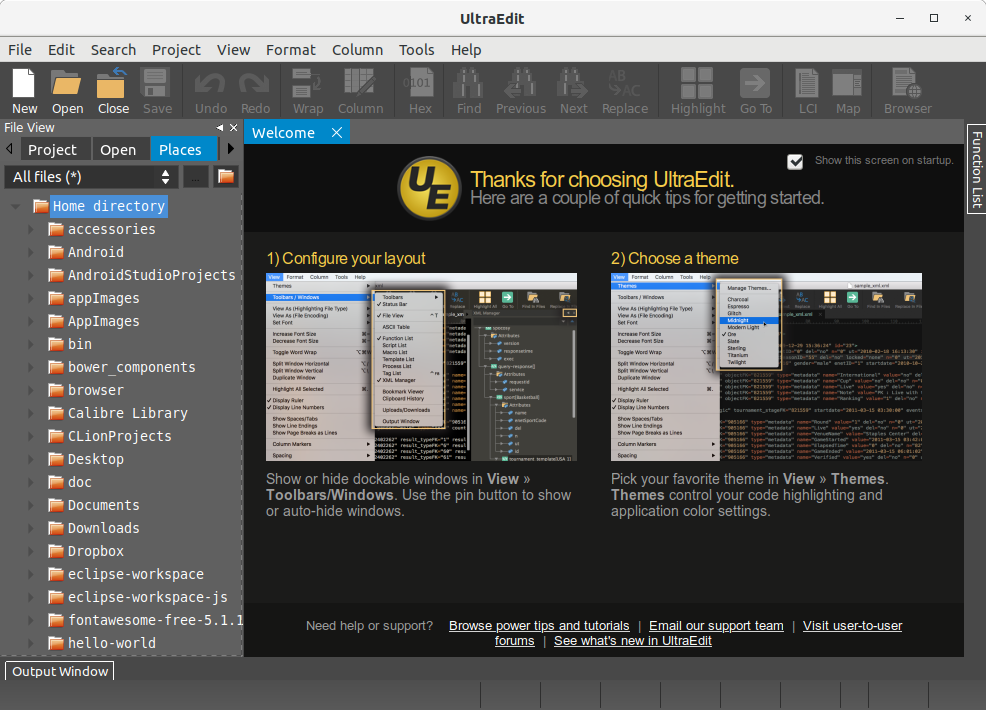 How to Install UltraEdit in Oracle Linux 7 - UI