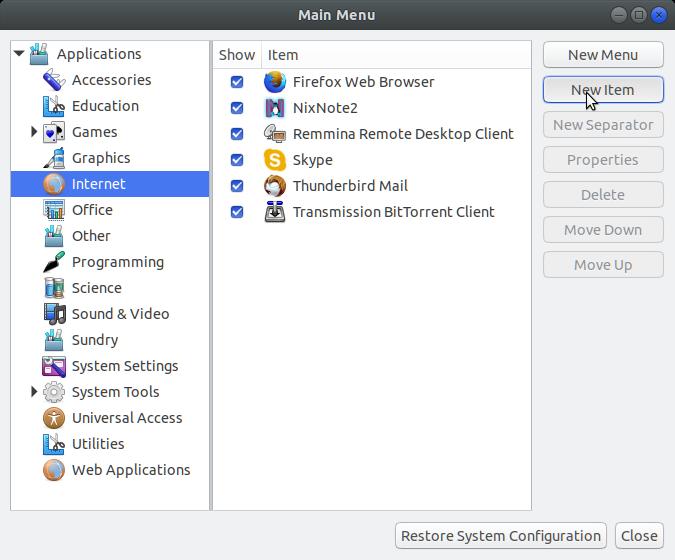 How to Create Menu Launcher Ubuntu Gnome - New Item