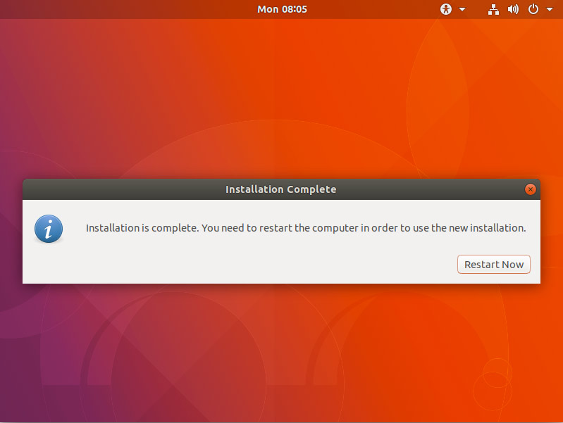 How to Install Dual Boot for Windows 10 and Ubuntu 17.10 Artful Linux - Success and Reboot