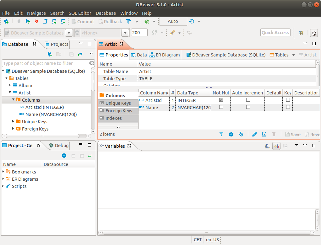 How to Install DBeaver on openSUSE 42 LEAP - UI