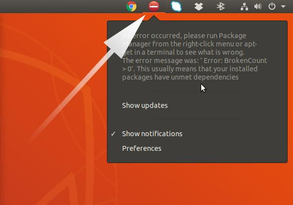 Ubuntu 19.10 Fix Error Broken Count - SystemTray