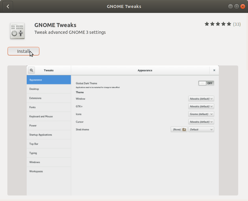 How to Change GTK Theme on Ubuntu 18.04 Bionic LTS - Ubuntu Software