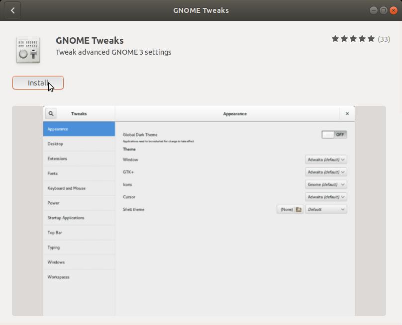 How to Change GTK Theme on Ubuntu 18.10 Cosmic - Ubuntu Software