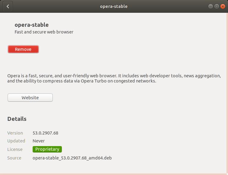 How to Install Opera Ubuntu 17.10 Artful - Done