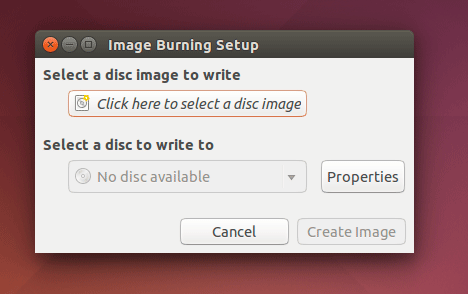How to Burn ISO Image to CD/DVD Disk on CentOS Visual Guide - Brasero Create Image