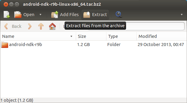 Install Android NDK on Xubuntu 14.04 Trusty Linux - Extraction