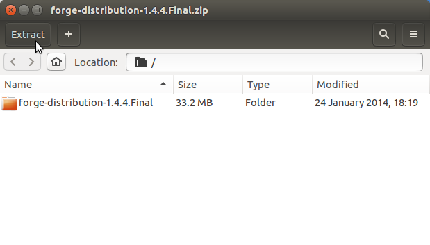 Quick-Start JBoss Forge Ubuntu Linux - Extraction