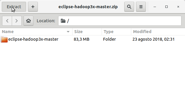 How to Install Eclipse Hadoop/Map-Reduce 3.X Plugin on Linux/Unix - Extraction