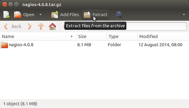 How to Install Nagios Linux Mint 18 - Extracting Nagios