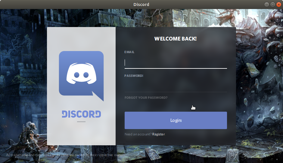 How to Install Discord Ubuntu 16.04 Xenial LTS - Login