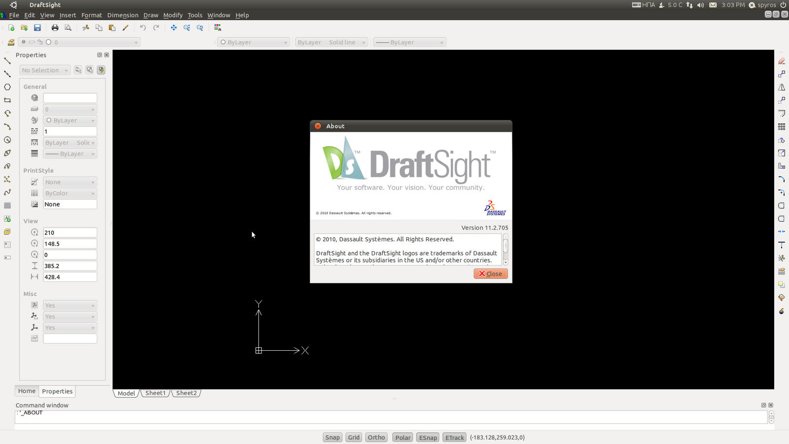 How to Install DraftSight on Ubuntu 16.04 Xenial LTS - UI
