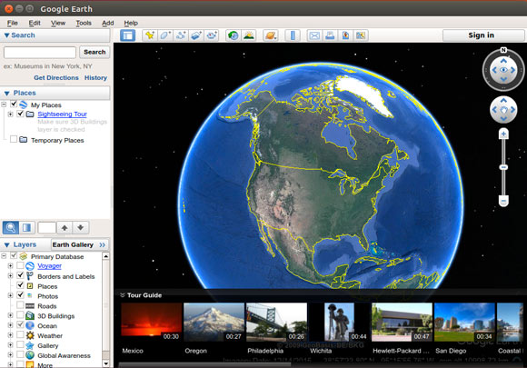 Installing Google Earth Pro for Ubuntu 17.04 Zesty - Google Earth Pro GUI