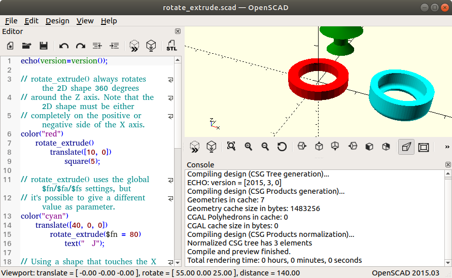 How to Install OpenSCAD on Linux Mint 18 LTS - UI