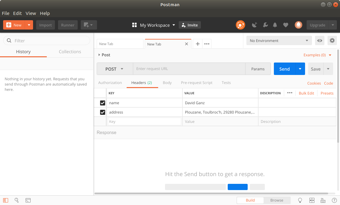 How to Install Postman on Fedora 28 GNU/Linux - Postman UI