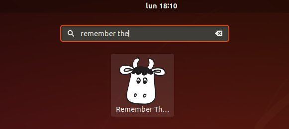 How to Install Remember The Milk in Ubuntu 18.04 Bionic LTS - Launcher
