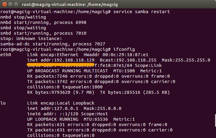 Samba File Sharing Quick Start on Linux Mint 18.1 Serena - Find IP on Terminal