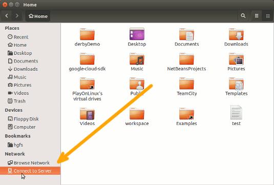Ubuntu 18.1 Serena Samba File Sharing Quick Start - File Manager Connect to Server