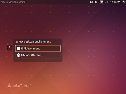 How to Install Enlightenment 0.22 on Ubuntu 14.04 LTS - Select Enlightenment