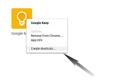How to Install Google Keep Ubuntu 17.10 Artful - Ubuntu Make Google Keep Shortcut