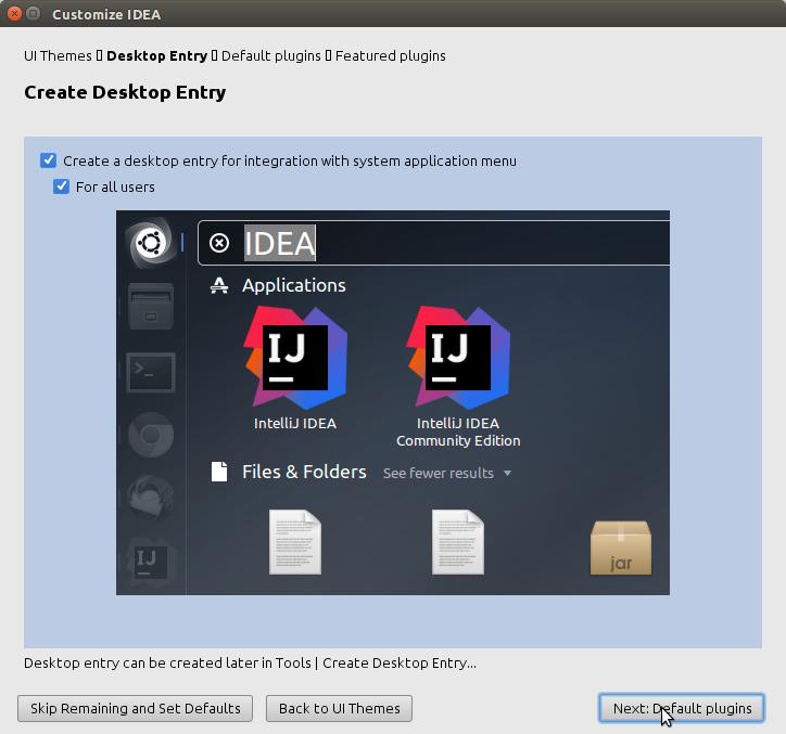 How to Install IntelliJ IDEA on LXLE - customization
