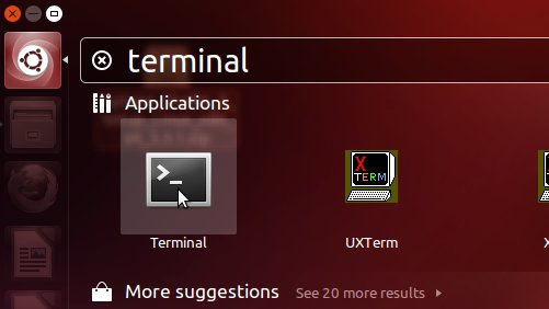 Getting-Started with Android Studio IDE for Ubuntu 14.04 Trusty LTS - Open Terminal