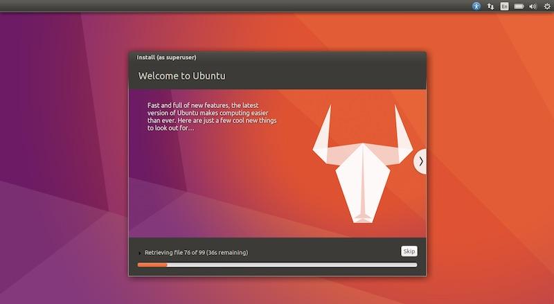 Ubuntu Linux Yakkety Installing