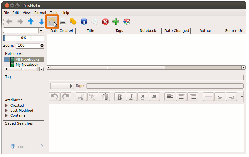 Ubuntu Getting-Started with Evernote Clone 4
