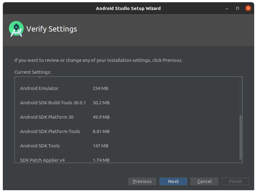 Installing Android Studio IDE on Linux - SDK Tools
