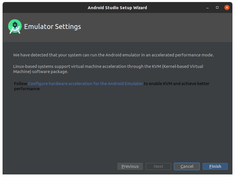 Installing Android Studio IDE on Linux - KVM Setup