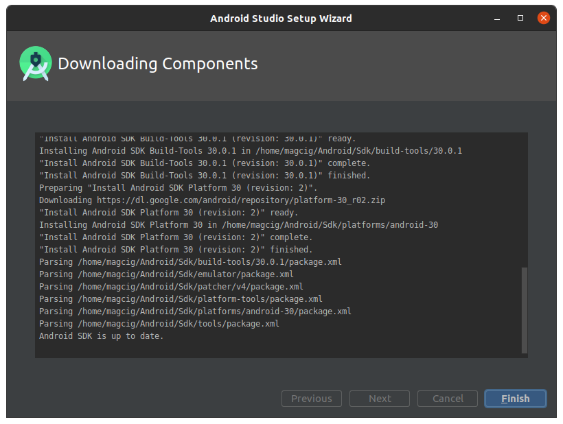 Installing Android Studio IDE on Linux - Done