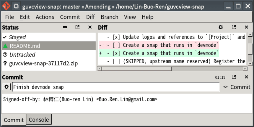 How to Install Best Git Client on GNU/Linux Desktops - Git-Cola UI
