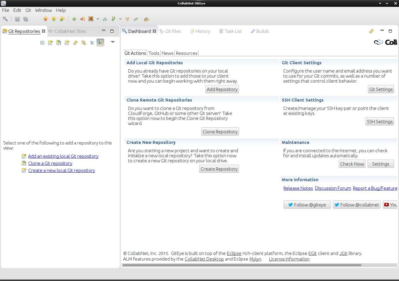 Installing GitEye for Oracle Linux - UI