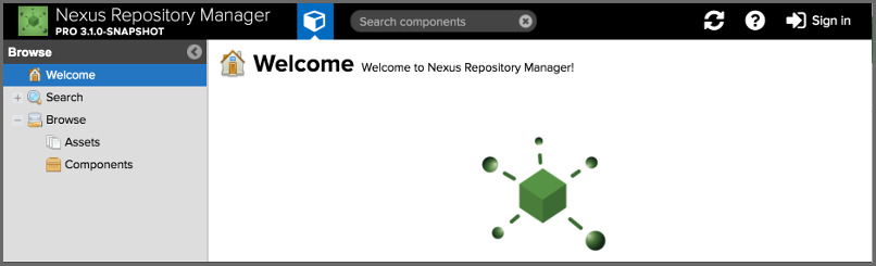 How to Install Nexus Repository Manager OSS Linux Mint 18 - Nexus Repository Manager User Interface