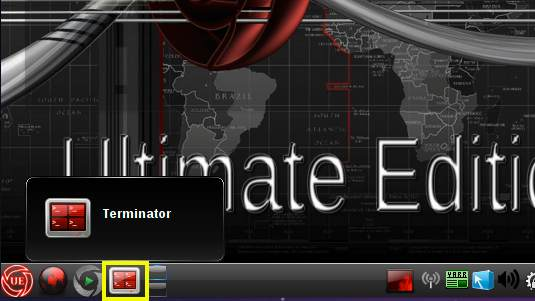 Linux Ultimate Edition 3.5 KDE Open Terminal