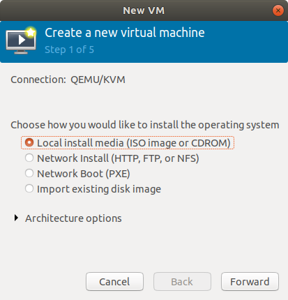 Virt-Manager Create New VM from ISO Visual Guide - Select ISO