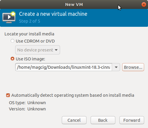 Virt-Manager Create New VM from ISO Visual Guide - Loading ISO