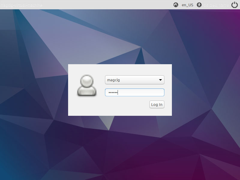Lubuntu 17.10 Virtual Machine VirtualBox Install - Login