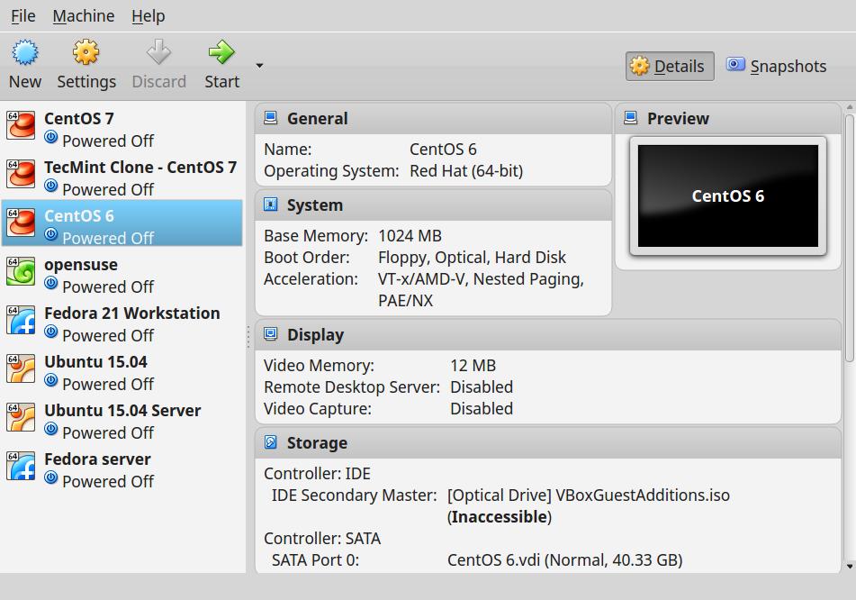Install Virtualbox on RedHat 7 - UI