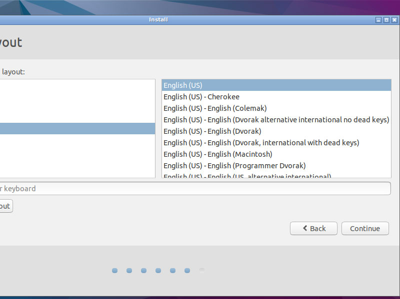 Install Lubuntu 16.04 Xenial Desktop on VMware Fusion 8 Steps - Select the Keyboard Layout