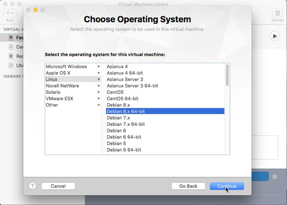 How to Create and Run a VMware Fusion Virtual Machine with Linux Live ISO - Linux Type