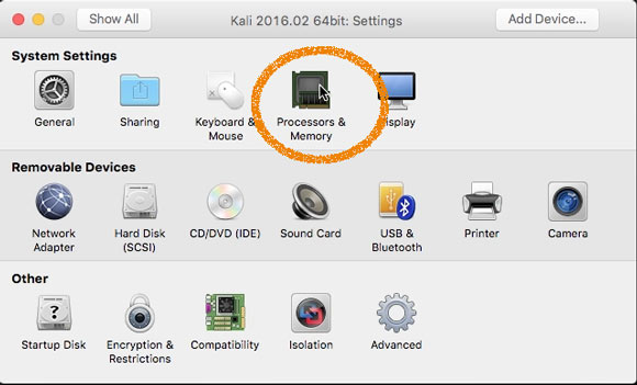 How to Create and Run a VMware Fusion Virtual Machine with Linux Live ISO - Processor & Memory
