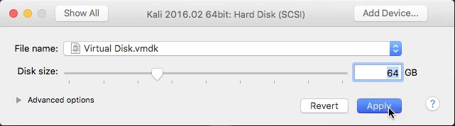 How to Create and Run a VMware Fusion Virtual Machine with Linux Live ISO - Setting Up Hard Disk Size