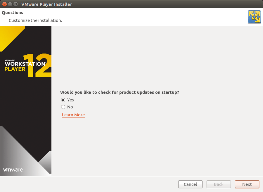 How to Install VMware Workstation Player 12 Debian 8 Jessie - Updates