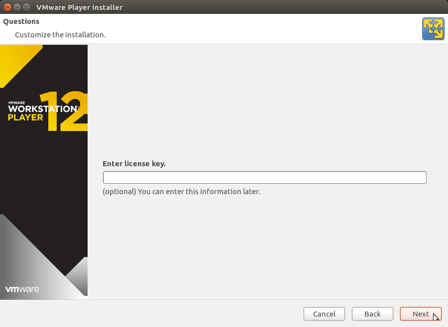 How to Install VMware Workstation Player 12 Debian 8 Jessie - License Key