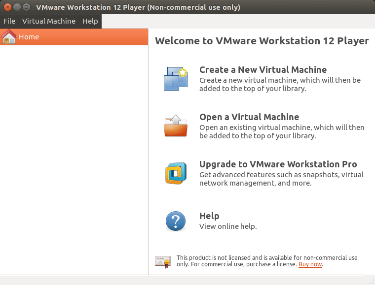 How to Install VMware Workstation Player 12 Debian 8 Jessie - VMware Workstation Player 12 GUI