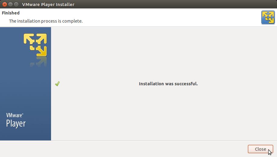 Linux Fedora VMware Player 7 Installation - Done