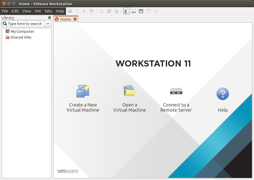Linux Ubuntu VMware Workstation 11 GUI