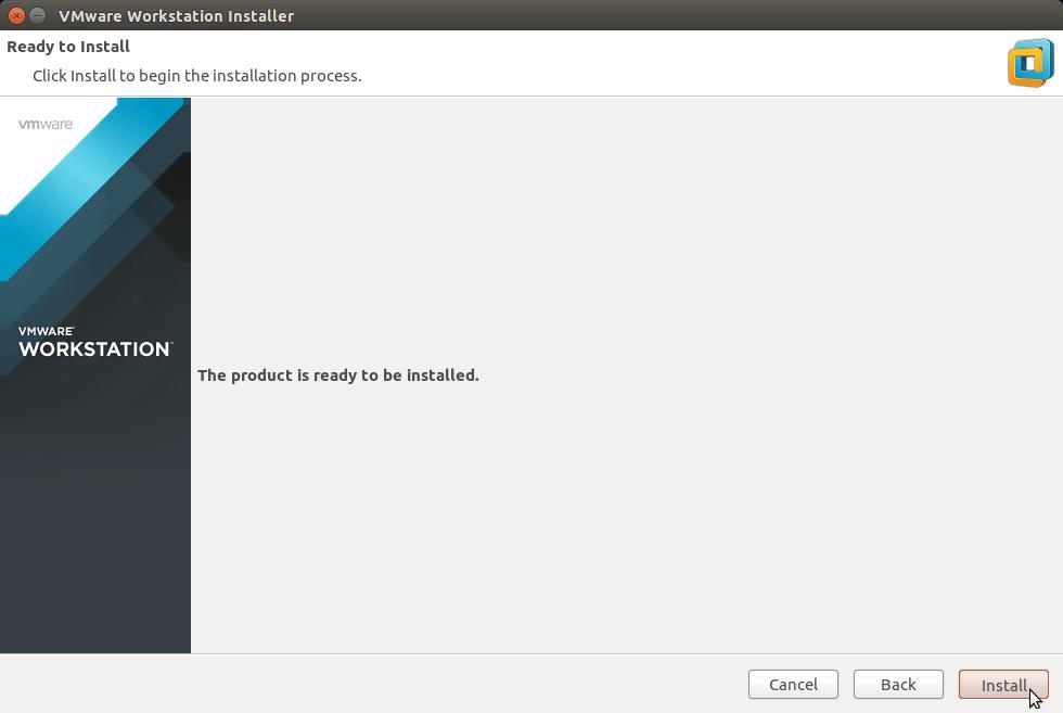 Linux Ubuntu 14.10 Utopic VMware Workstation 11 Installation - Start Installation